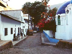 Typical Street in Batopilas