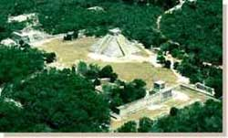 Aerial view of Chichen Itza
