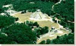 Aerial view of Chichen Itza