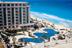 Airview of Le Meridien Cancun