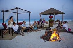Beach Bonfire at Ritz Carlton