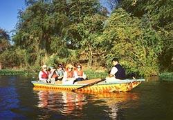 Boating down El Fuerte River