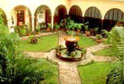 Courtyard at Posada Hidalgo