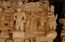 Masks at Ek-Balam