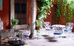 Courtyard at Hotel Trinidad