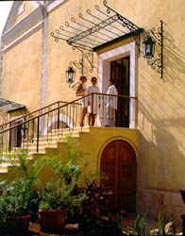 Arriving at Hacienda Xcanatun