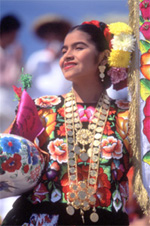 Girl in Oaxacan Dress