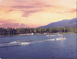 Waterskiing at Laguna Coyuca